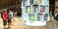 """""""Le giornate della Notte a Milano"""" 15-17 Settembre 2009: i pinguini Kokò in Galleria Vittorio Emanuele II"""