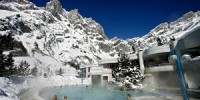 Settimana bianca in Svizzera e vacanze benessere alle terme di Leukerbad sulle Alpi. Vacanze sulla neve