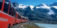 Viaggio in treno da Tirano (Valtellina) a Saint Moritz (Svizzera) sul Bernina Express