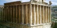 Viaggio in Libano (Asia) al sito archeologico di Baalbek: i templi romani