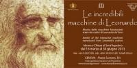 Mostre Genova 2013-Mostra su Leonardo Da Vinci fino al 30 Giugno 2013
