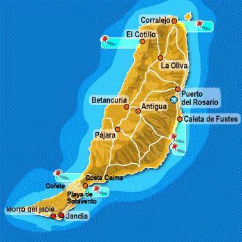 Vacanze fuerteventura canarie spagna le spiagge pi - Mappa messico mappa da colorare pagina ...