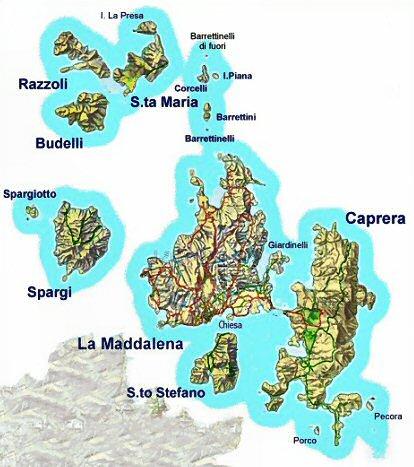 Sardegna spiagge isole di la maddalena caprera spargi for Isola che da il nome a un golfo della sardegna