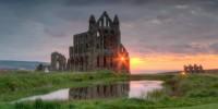 Inghilterra-costa dello Yorkshire: Abbazia di Whitby del romanzo Dracula di Bram Stoker