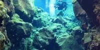 Islanda: immersioni nella faglia di Silfra. Lago Thingvallavath nel Parco Nazionale Thingvellir