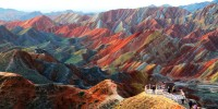 Cosa vedere in Cina: le montagne colorate dello Zhangye Danxia Landform Geological Park