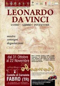 Al Castello di Carnaiola Fabro Terni la mostra su Leonardo Da Vinci dal 31 Ottobre al 22 Novembre 2009