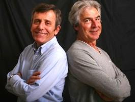 Maurizio Micheli e Tullio Solenghi nello spettacolo Italiani si nasce a Milano a Dicembre 2009
